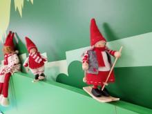 Joulutonttukoristeet Linkki-palvelupisteessä
