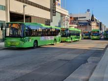 Linkki-linja-autoja Vapaudenkadulla